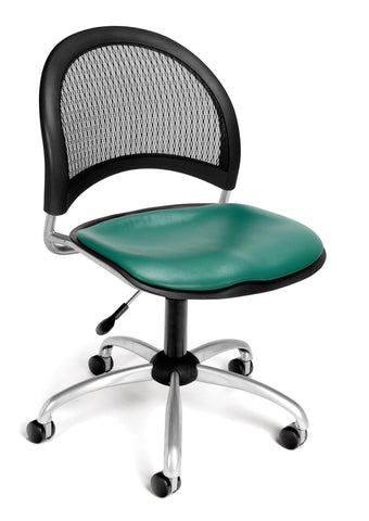 Moon Swivel Chair - Vinyl Seat - Teal