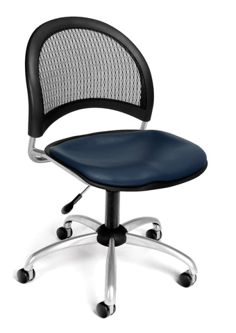 Moon Swivel Chair  -Vinyl Seat - Navy