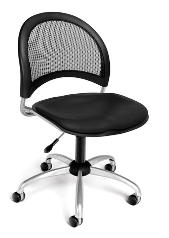 Moon Swivel Chair  -Vinyl Seat - Black