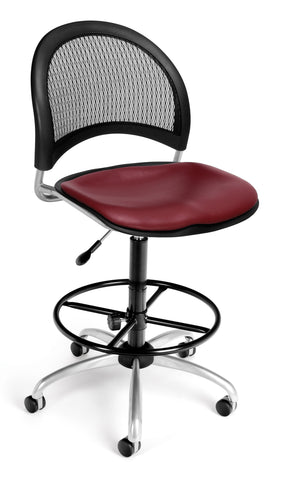 Moon Swivel Chair-Vinyl Seat-Wine wDKit