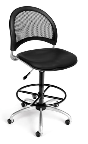 Moon Swivel Chair-Vinyl Seat-Blk wDKit