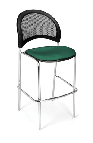 Moon Cafe Hgt Chair-ChrBase-Shamrock Grn