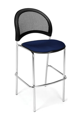 Moon Cafe Hgt Chair-ChrBase-Navy