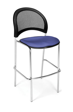 Moon Cafe Hgt Chair-ChrBase-Clonial Blue