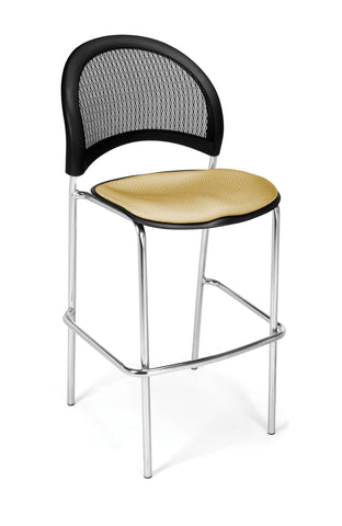 Moon Cafe Hgt Chair-ChrBase-Golden Flax