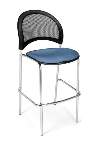 Moon Cafe Hgt Chair-ChrBse-Cornflower Blue