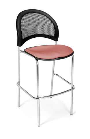 Moon Cafe Hgt Chair-ChrBase-Coral Pink
