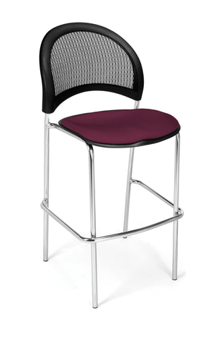 Moon Cafe Hgt Chair-ChrBase-Burgundy