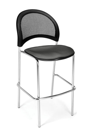 Moon Cafe Hgt Chair-ChrBase-Slate Gray