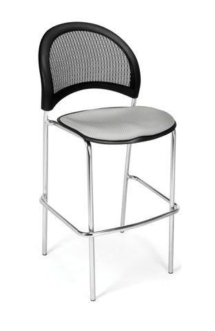 Moon Cafe Hgt Chair-ChrBase-Putty