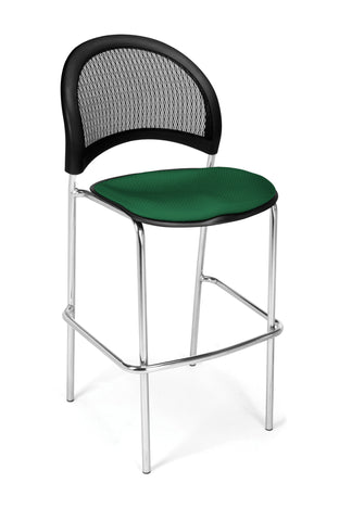 Moon Cafe Hgt Chair-ChrBase-Forest Green