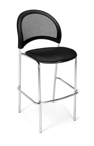 Moon Cafe Hgt Chair-ChrBase-Black