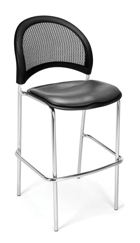 Moon Cafe Hgt Chair-Chrome-VAM-Charcoal