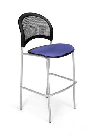 Moon Cafe Hgt Chair-Slvrbse-Colonial Blue