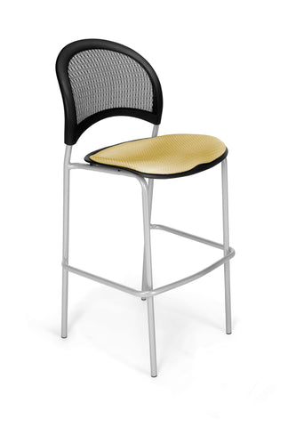 Moon Cafe Hgt Chair-SlvrBase-Golden Flax