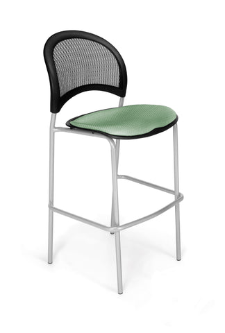 Moon Cafe Hgt Chair-SlvrBase-Sage Green