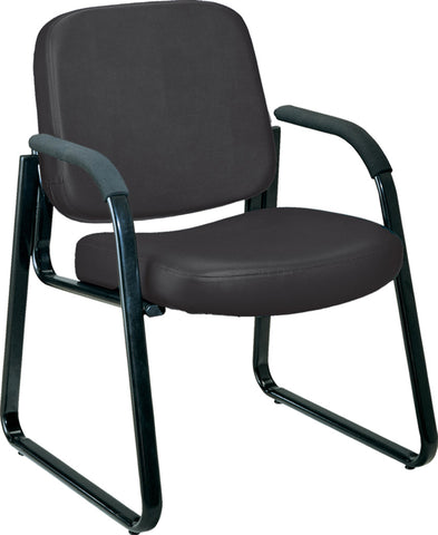 GUEST CHAIR - 606 - BLACK AM VINYL