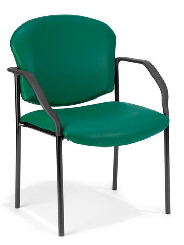 DELUXE STACKING GUEST CHAIR - TEAL VINYL