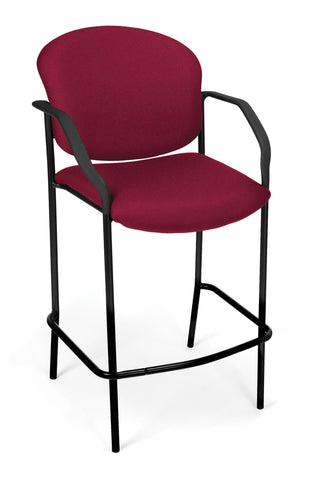 DELUXE CAFE CHAIR WITH ARMS - WINE