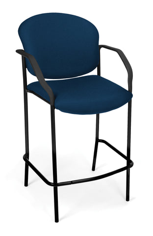 DELUXE CAFE CHAIR WITH ARMS - NAVY