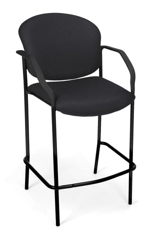 DELUXE CAFE CHAIR WITH ARMS - BLACK