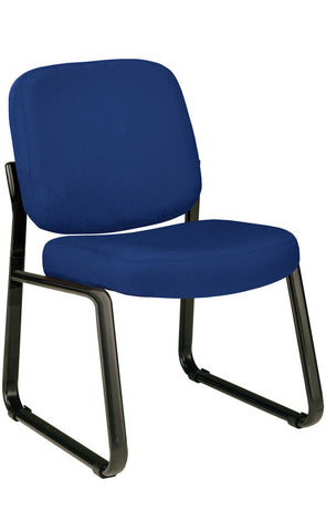 ARMLESS RECEPTION CHAIR-NAVY ICON FABRIC