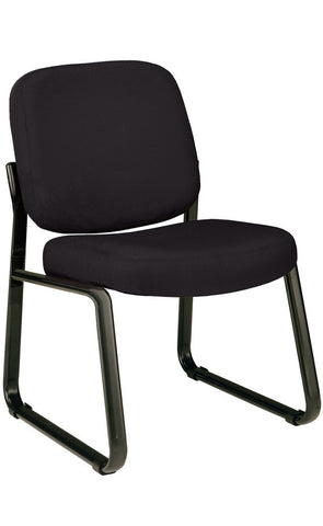 ARMLESS RECEPTION CHAIR-BLACK ICON FABRI