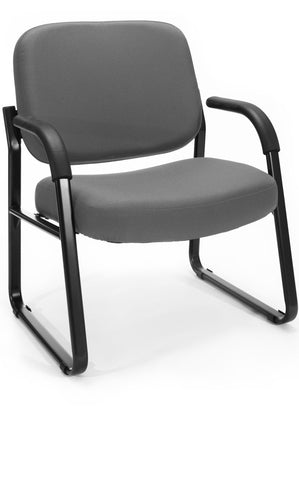 BIG & TALL VINYL ARMCHAIR - CHARCOAL