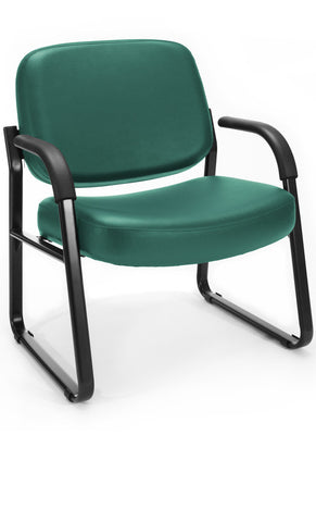BIG & TALL VINYL ARMCHAIR -TEAL