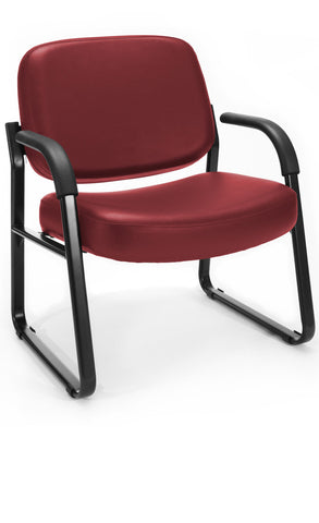 BIG & TALL VINYL ARMCHAIR - WINE