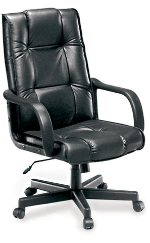 EXECUTIVE/CONF LEATHER CHAIR - BLACK