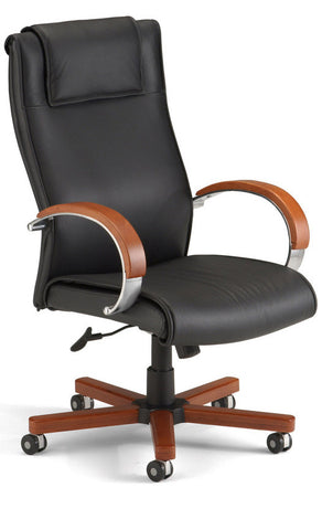 APEX EXECUTIVE HI-BACK LEATHER CHAIR
