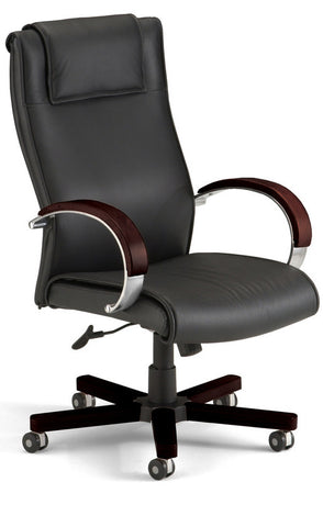 APEX EXECUTIVE HI-BACK LEATHER-MAH