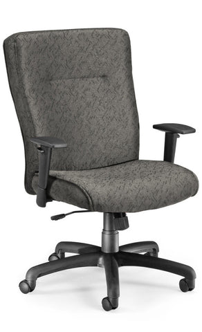 EXEC CHAIR W/ADJ ARMS - CHARCOAL
