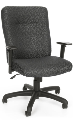 EXEC CHAIR W/ADJ ARMS - 301 GRAY