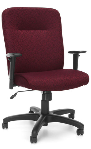 EXEC CHAIR W/ADJ ARMS - 303 BURGUNDY