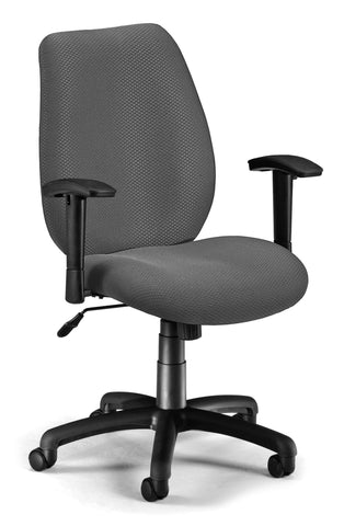 ERGO CONF/MAN CHAIR W/ADJ ARMS -GRAPHITE