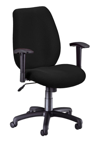 ERGO CONF/MAN CHAIR W/ADJ ARMS - EBONY