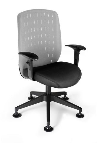 Vision Exec Guest Chair-Light Gray