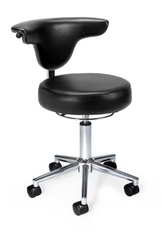 BLACK-VINYL ANTI-MICROBIAL/BACT ANATOMY CHAIR