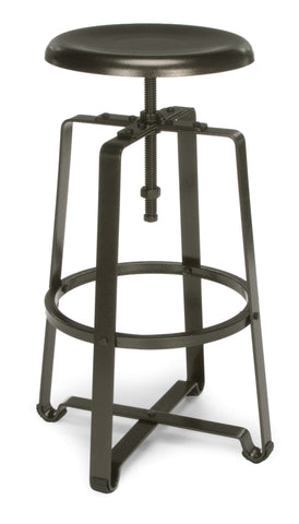 METAL STOOL- STOOL HT DARK VEIN SEAT & LEGS