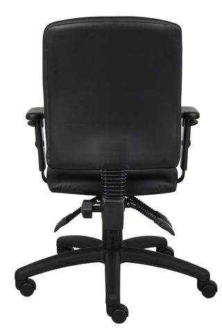 Boss Multi-Function Leatherplus Task Chair W/ Adjustable Arms