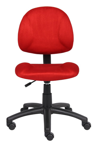 Boss Red Microfiber Deluxe Posture Chair