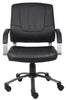Boss Executive Leatherplus W/Pewter Finish Chair