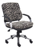 Boss Zebra Microfiber Mid Back Padded Arm Chair