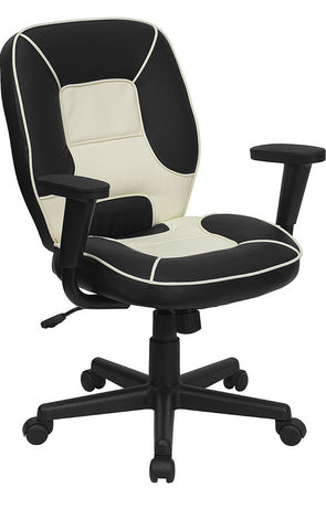 Mid-Back Vinyl Steno Executive Office Chair [BT-2922-BK-GG]