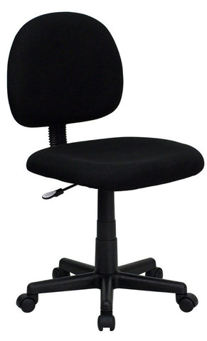 Mid-Back Ergonomic Black Fabric Task Chair [BT-660-BK-GG]