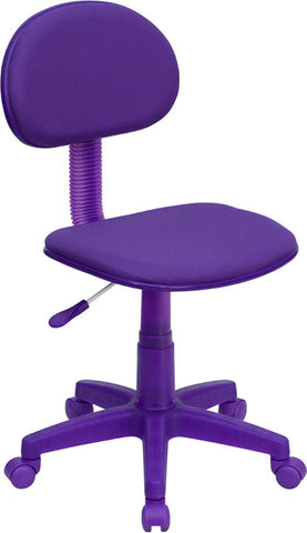 Purple Fabric Ergonomic Task Chair [BT-698-PURPLE-GG]