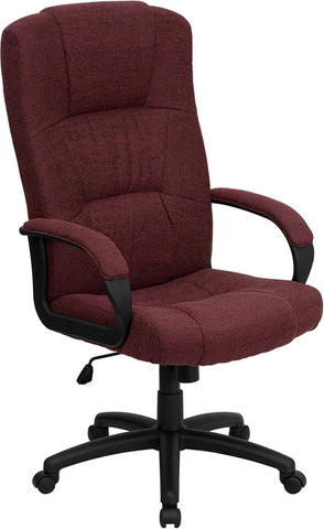 High Back Burgundy Fabric Executive Office Chair [BT-9022-BY-GG]