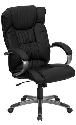 High Back Black Leather Executive Office Chair [BT-9088-BK-GG]